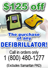 $125 OFF AND DEFIBRILLATOR (CALL IN ORDERS ONLY)