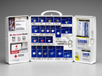 Large Food Industry First Aid Cabinet with SmartTab ezRefill System - Plastic