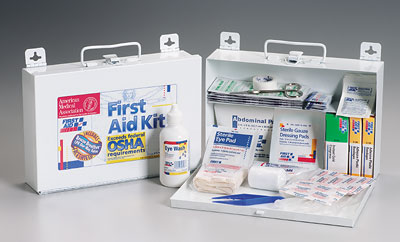 OSHA Bulk First Aid Kit, w/ CPR Faceshield - 25 Person