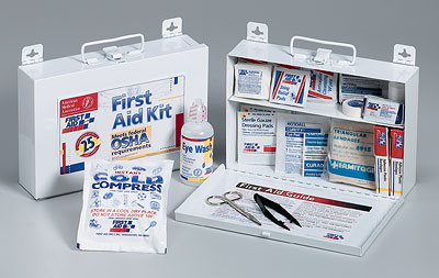 OSHA Bulk First Aid Kit - 25 Person Metal Case